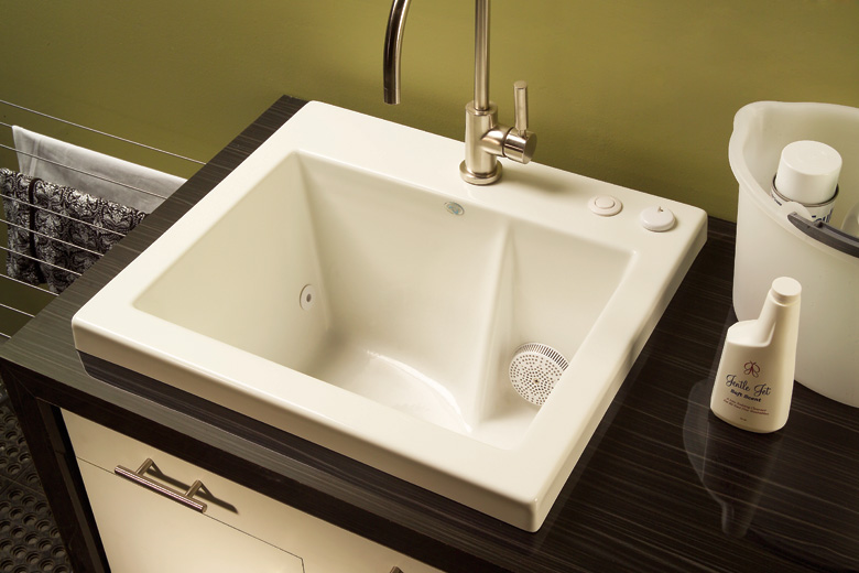 Small Garage Sink : Luxury Home Feature #7 -Laundry Room Jetted Sink : ADAM PAUL RICH
