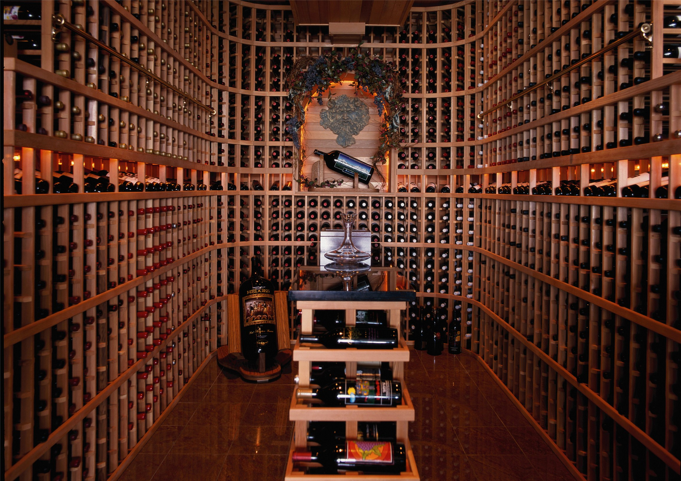Luxury home feature 9 wine cellar adam paul rich for In home wine cellar